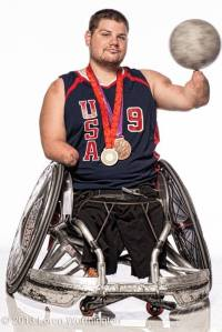 Nick Springer, two-time Paralympian in wheelchair rugby, and Caitlin's hero. Photo Credit: XXX