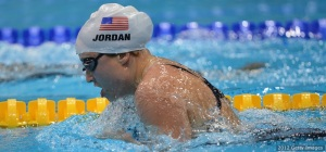 Cortney Jordan in the Womens 200m Individual Medley SM7 race on day 4 of the London 2012 Paralympic Games. Photo credit: Christopher Lee/Getty Images