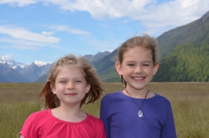 Emilia and her sister, Isabella, traveling in New Zealand. Photo Credit: G. Scovel