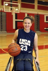 Abby Dunkin Getting Ready for Parapan Games Photo Credit: herald-zeitung.com