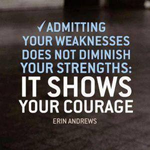 Admitting Weakness