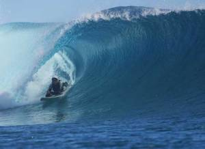 Jesse in the barrell. Photo Credit: isaworlds.com