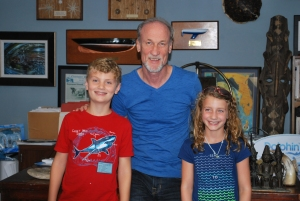 Nolan, Caitlin and David Yates in his original CMA office and set for both movies. Photo Credit: Jen Stratton